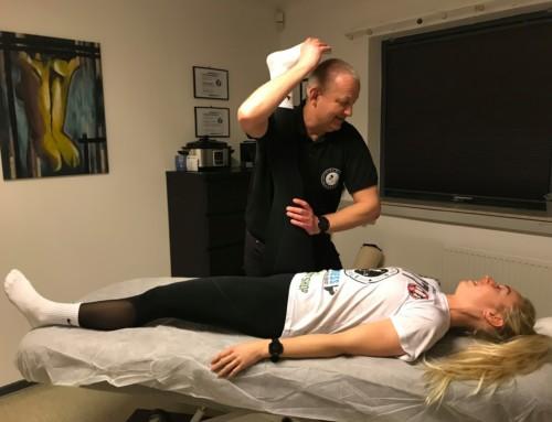 Samarbejdet imellem dameholdets Louise Hjorth og Fischer Massage