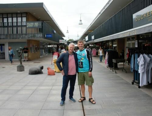 På rundtur i Egedal Centret med vores målmand Søren Haagen